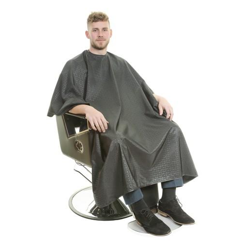 1130 - Executive Barber Cape - Stud Neck - Black