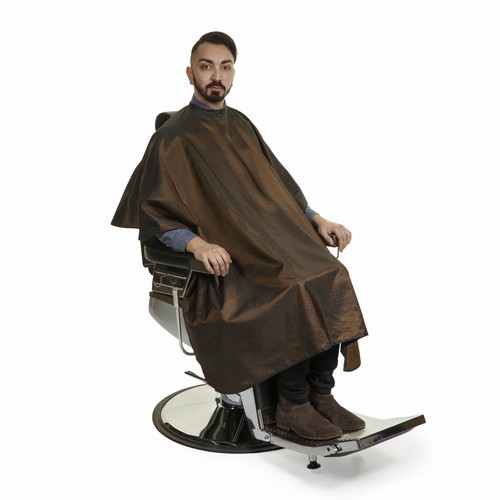 1137 - Executive Barber Cape - Brown