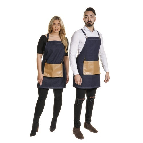 1203 - Denim Barber Apron 2