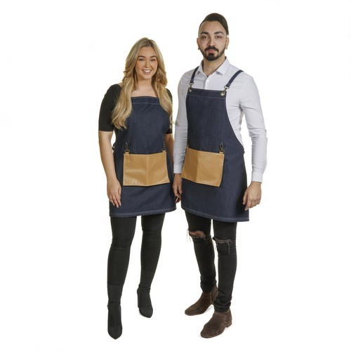1203- Denim Barber Apron