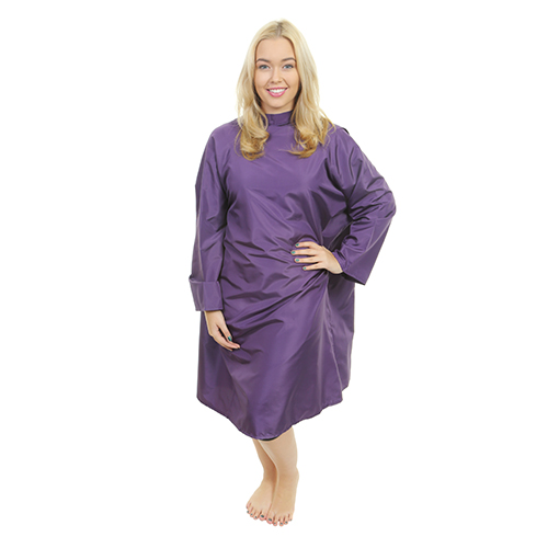 1609 - Florence Sleeved Gown - Tie Neck - Purple