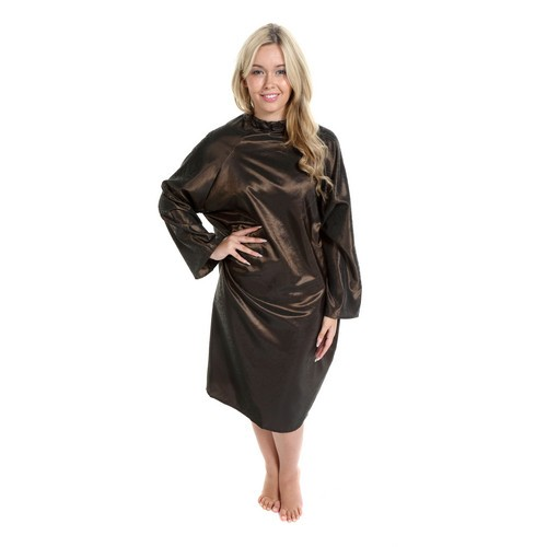 1658 - Rose Sleeved Gown - Gold