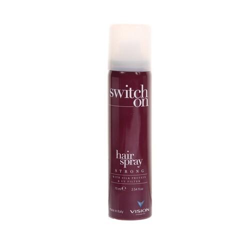 Switch on hair spray