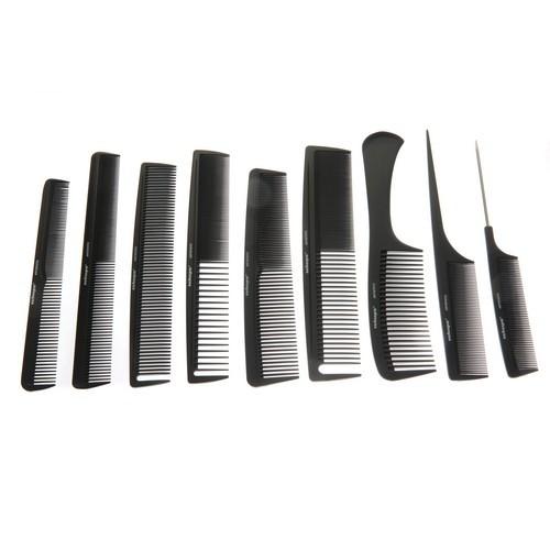 KW001 - 9 Piece Carbon Comb Set
